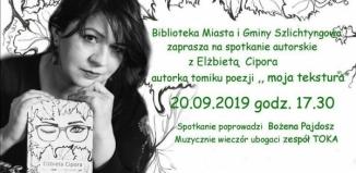 Spotkanie autorskie z Elżbietą Cipora
